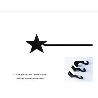 Black Wrought Iron Large Star Curtain Rod