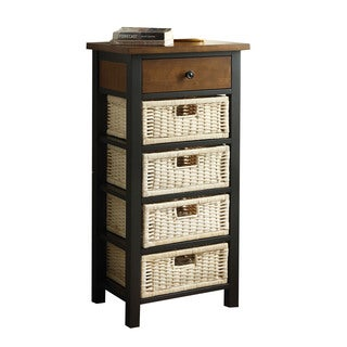 Acme Furniture Fidella Storage Rack, Black and Oak
