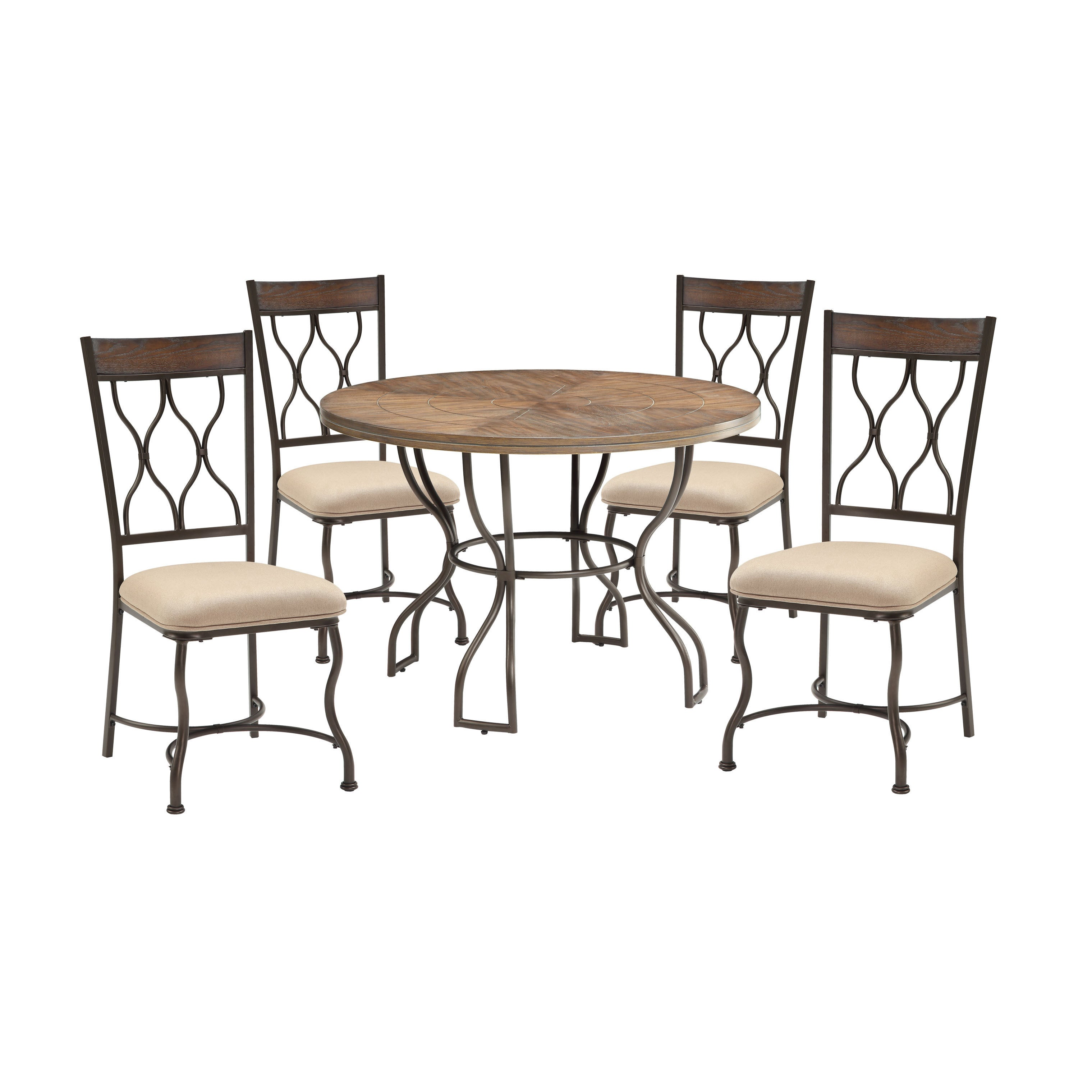 ACME Furniture Hansa 5-Piece Dining Set, Oak and Antique ...