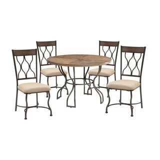 Acme Furniture Hansa 5-Piece Dining Set, Oak and Antique Black