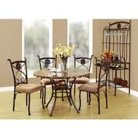 Acme Furniture Kleef 5-Piece Dining Set , Brown Faux Marble