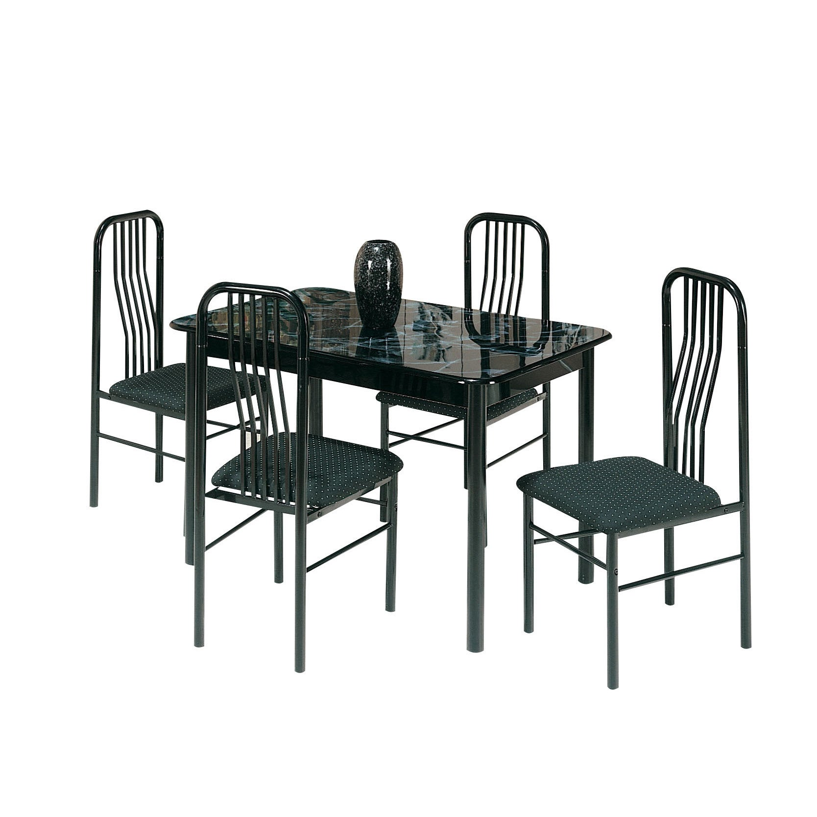 ACME Furniture Hudson 5-Piece Pack Dining Set, Faux Marbl...