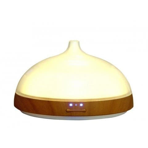 Euro Style Collection Ultrasonic 100ml Oil Diffuser with LED Light-White - white