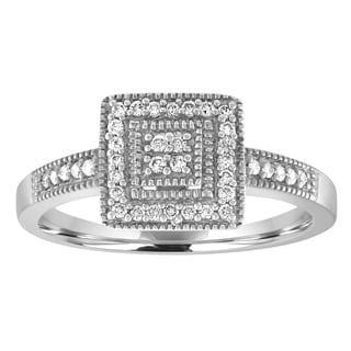 Sterling Silver 1/6ct TDW Diamond Promise Ring - White
