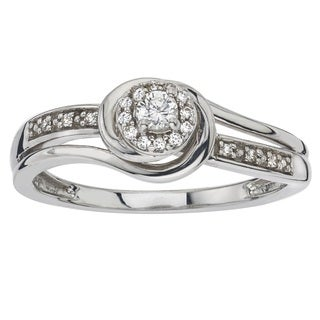 Sterling Silver 1/6ct TDW Diamond Bridal Ring