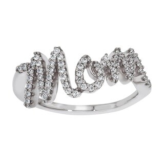 Sterling Silver 1/4ct TDW Diamond 'Mom' Ring
