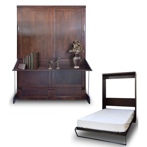 Andrew Murphy Queen Desk-Bed Set in Cappuccino Finish