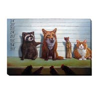 'Usual Suspects' by Lucia Heffernan Wrapped Canvas Giclee Art