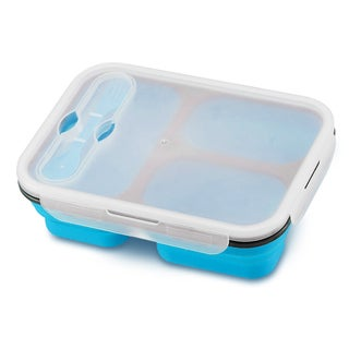Collapsible Eco 3-section Lunch Kit (Option: Blue)