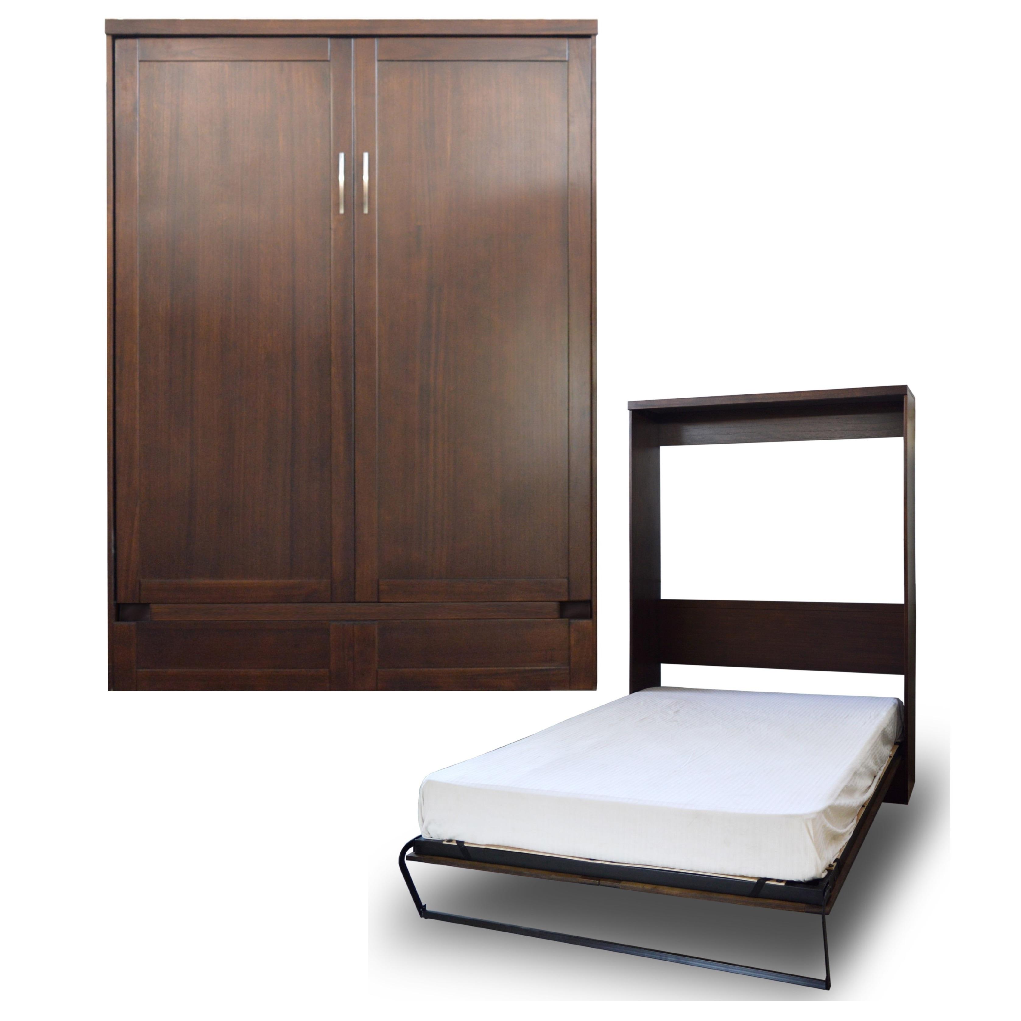 RoomAndLoft Queen Andrew Murphy Bed in Cappuccino Finish ...