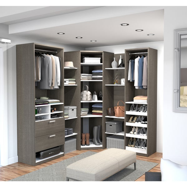 Walk In Closet Solutions: Shop Cielo By Bestar Elite Corner Walk-In Closet