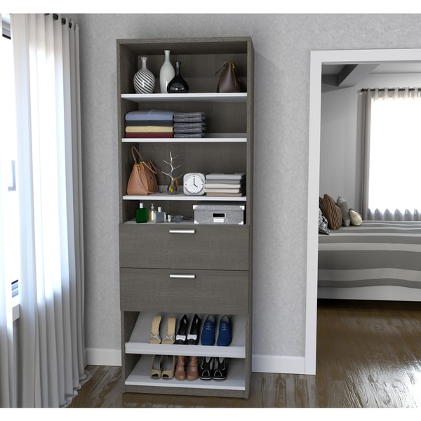 Cielo By Bestar 29.5 Inch Shoe/Closet Storage Unit With Drawers