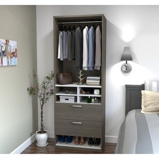 Cielo by Bestar 29.5-inch Multi-Storage Cubby with drawers