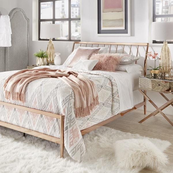 Lincoln Copper Finish Metal King Size Bed by iNSPIRE Q Bold. Opens flyout.