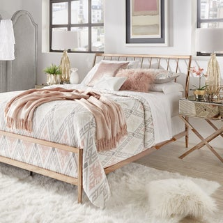 Lincoln Copper Finish Metal King Size Bed by INSPIRE Q