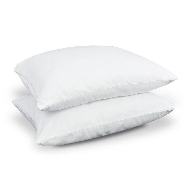 NDP Bedding Super Plush Pillow Dust Mite Resistant Down Alternative Standard Size Pillow (Set of 2)