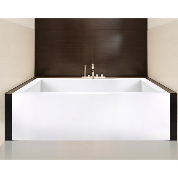 Shop Clarke Sparta Matte White Skirted Soaking Bathtub - Free ...