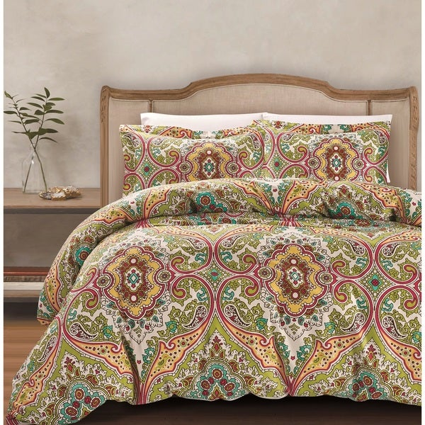 Gale Cotton Damask Comforter Set