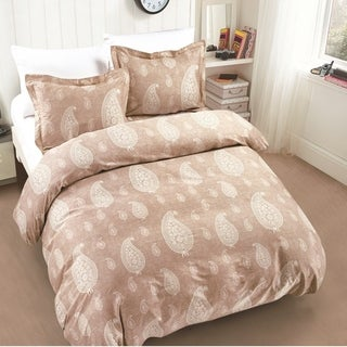 Dunes Paisley Taupe Comforter Set