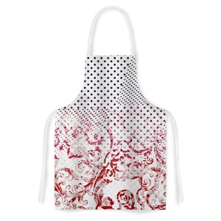 Victoria Krupp 'Mixing Dots Red Digital Artistic Apron