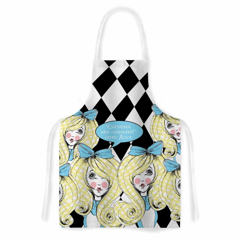 Kess InHouse Zara Martina Curious Alice Blue Black Artist...