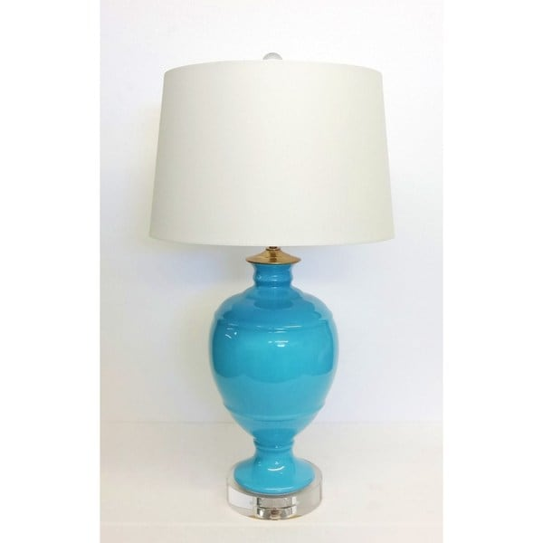 Turquoise Lamp with Crystal Base