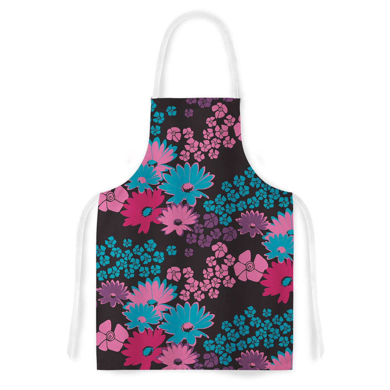 Kess InHouse Zara Martina Mansen Berry Color Bouquet Teal...