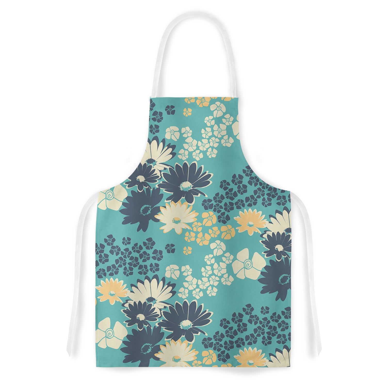 Kess InHouse Zara Martina Mansen Teal Color Bouquet Green...