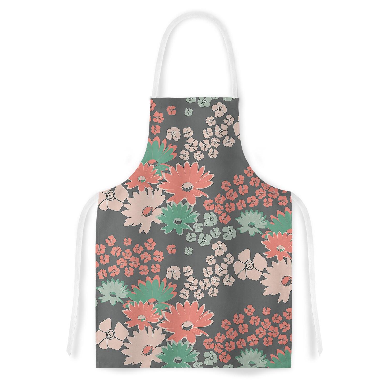 Kess InHouse Zara Martina Mansen Natures Bouquet Coral Gr...