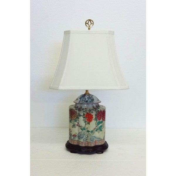 Le Fleurs Scallop Jar Porcelain Table Lamp