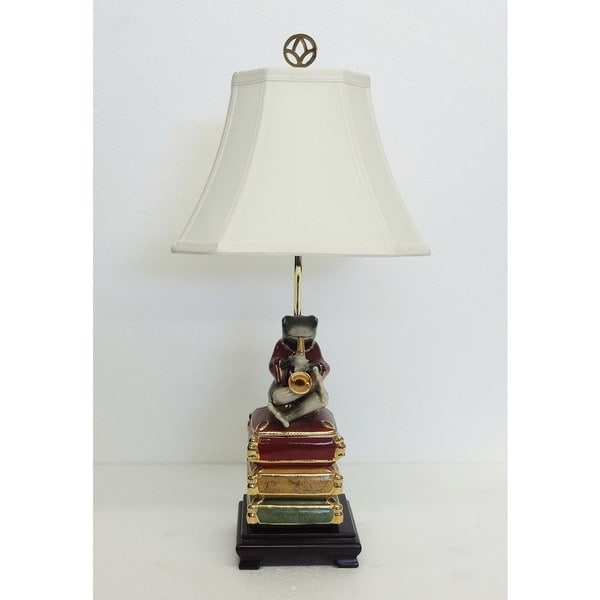 Froggie on Saxophone Figurine Table Lamp