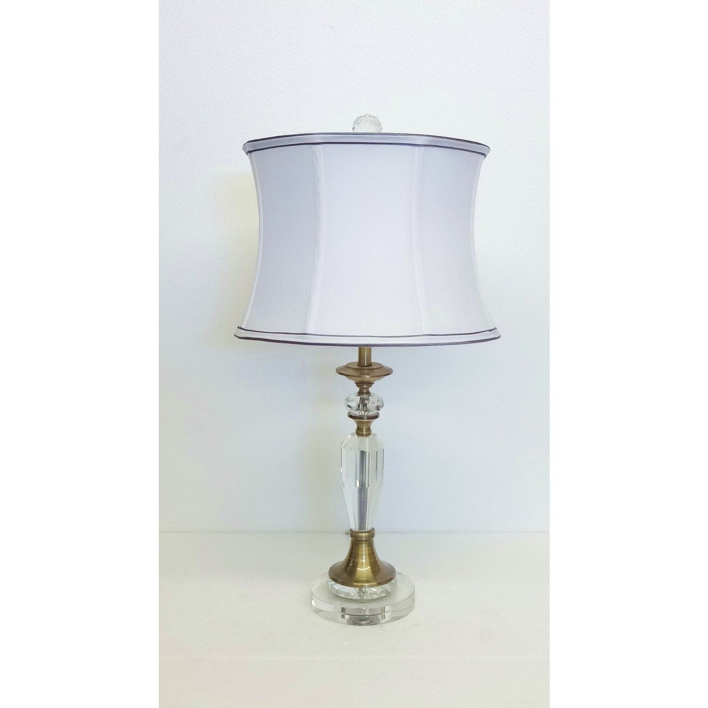 Picture of: Augusto Crystal Brass Table Lamp On Sale Overstock 14476586