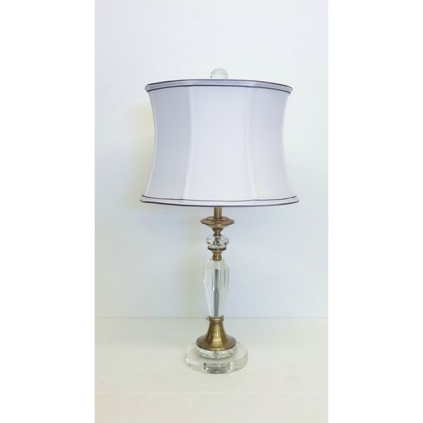 Augusto Crystal Brass Table Lamp