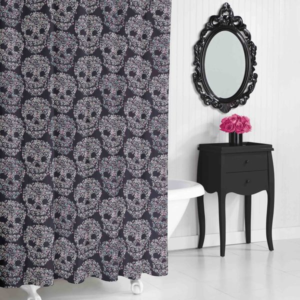 Betsey Johnson Skull Candy Shower Curtain