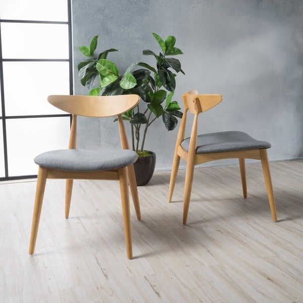 Barron Mid Century Dining Chair Set of 2 by Christopher Knight