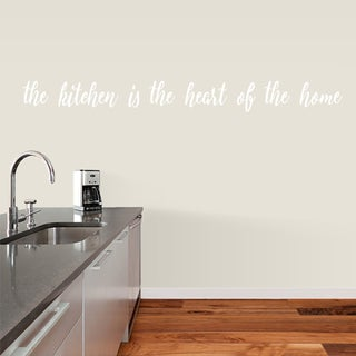 "The Kitchen is the Heart of the Home Wall Decal - 72"" x 7"""