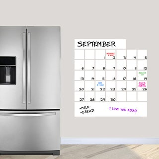 "Dry Erase Calendar Wall Decal - 30"" x 32"""