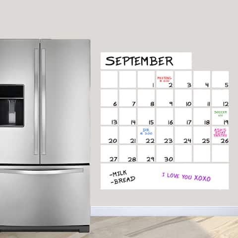 "Dry Erase Calendar Wall Decal (36"" x 38.5"")"