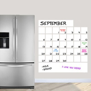"Dry Erase Calendar Wall Decal (36"" x 38.5"")"