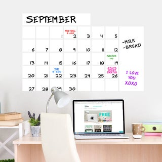 "Dry Erase Wide Calendar Wall Decal (36"" x 23"")"