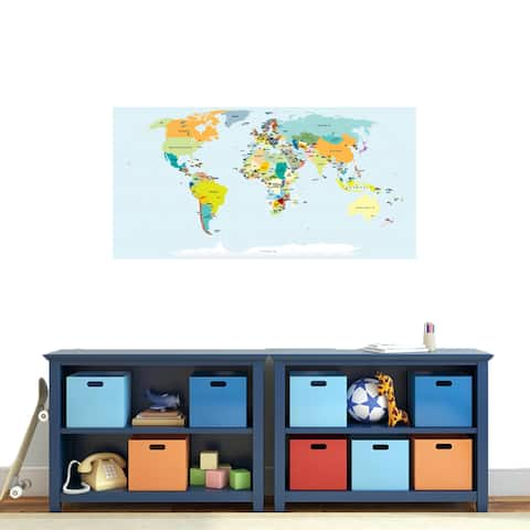 World Map Atlas Printed Decal