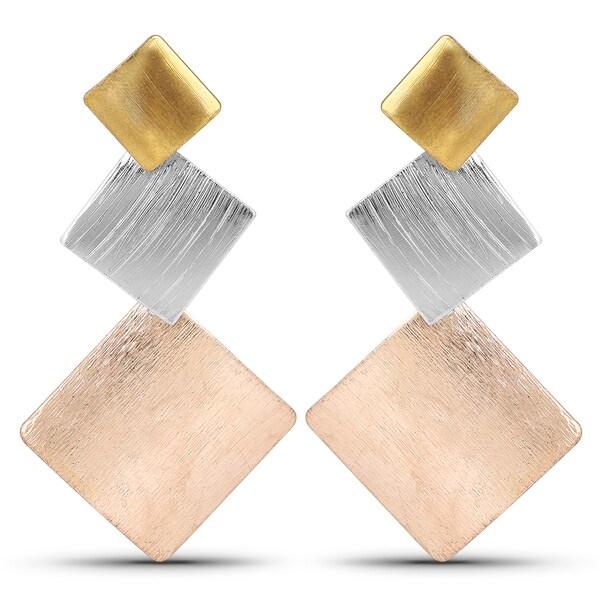 Liliana Bella Tri-color Contemporary Dangle Earrings