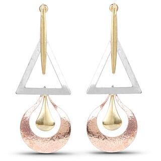 Liliana Bella Tri-colour Contemporary Fashion Dangle Earrings