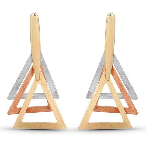 Liliana Bella Tricolor Triangle Fashion Dangle Earrings