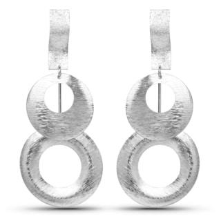 Liliana Bella Women's Silvertone Metal Round Dangle Earrings