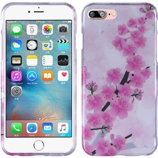 Insten Pink/ White Cherry Blossom Hard Snap-on Rubberized Matte Case Cover For Apple iPhone 7