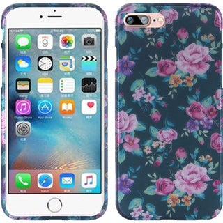 Insten Green/ Pink Roses Hard Snap-on Rubberized Matte Case Cover For Apple iPhone 7