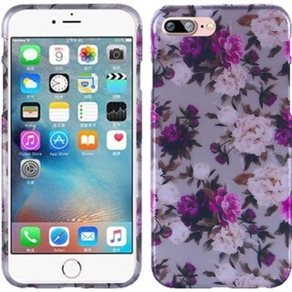 Insten Purple Roses Hard Snap-on Rubberized Matte Case Cover For Apple iPhone 7 Plus
