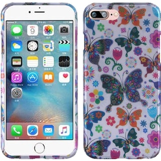 Insten Colorful Butterfly Flower Hard Snap-on Rubberized Matte Case Cover For Apple iPhone 7