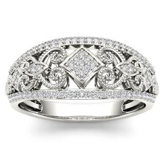 De Couer 1/5ct TDW Diamond Fashion Engagement Ring - White H-I